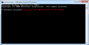 upgrade using slmgr.vbs and a KMS client setup key